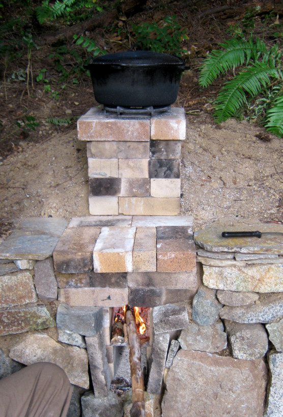 cooking on a rocket stove
