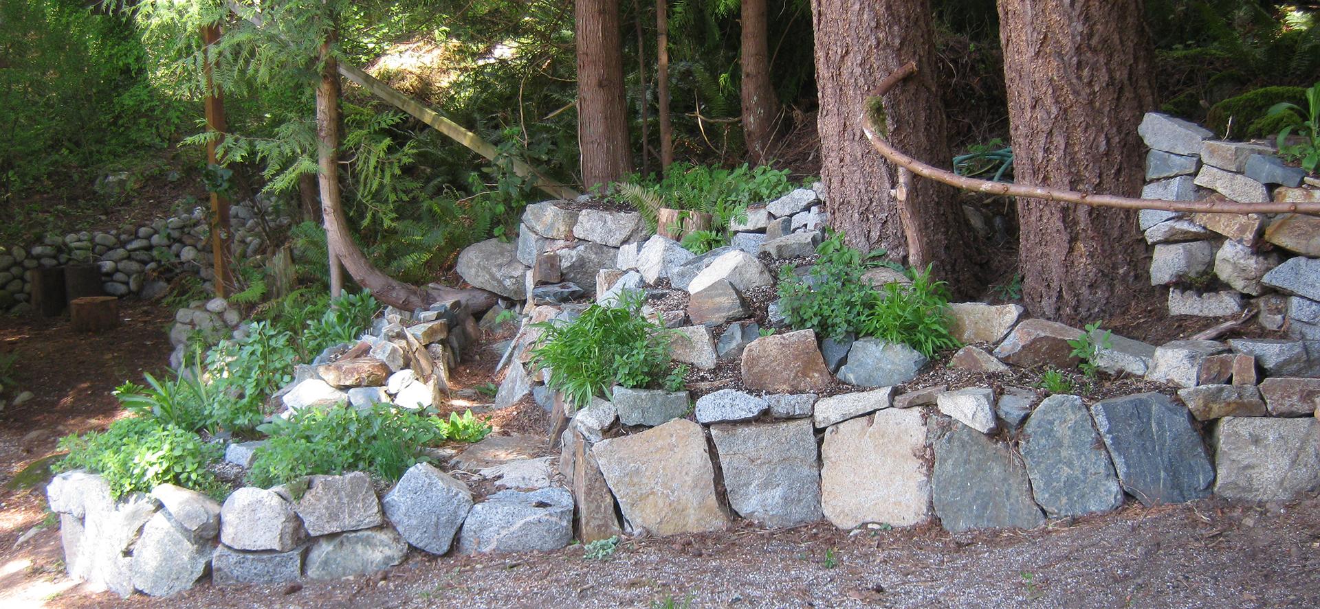 rock herb garden
